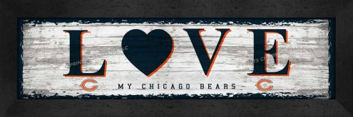 Chicago Bears Love My Team Wall Decor