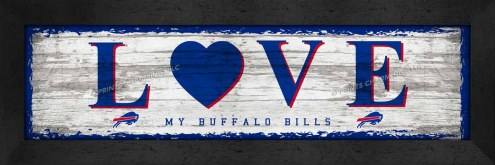 Buffalo Bills Love My Team Wall Decor