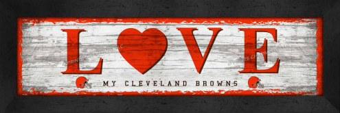 Cleveland Browns Love My Team Wall Decor