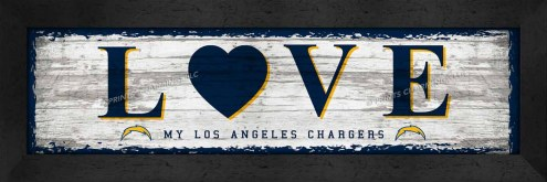Los Angeles Chargers Love My Team Wall Decor