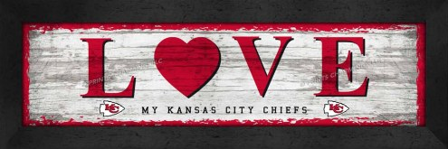 Kansas City Chiefs Love My Team Wall Decor