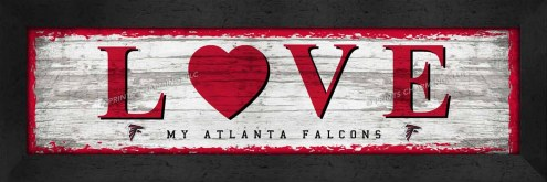 Atlanta Falcons Love My Team Wall Decor