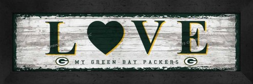 Green Bay Packers Love My Team Wall Decor