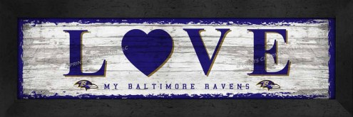 Baltimore Ravens Love My Team Wall Decor