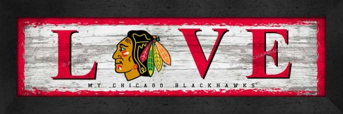 Chicago Blackhawks Love My Team Wall Decor