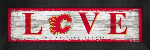 Calgary Flames Love My Team Wall Decor