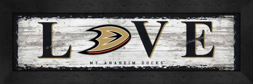 Anaheim Ducks Love My Team Wall Decor
