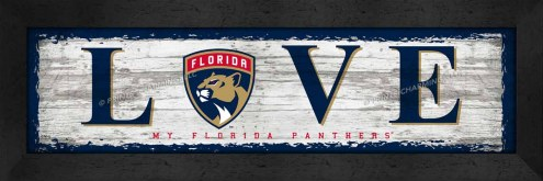 Florida Panthers Love My Team Wall Decor