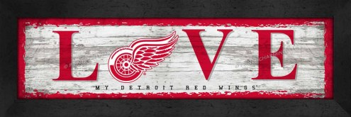 Detroit Red Wings Love My Team Wall Decor