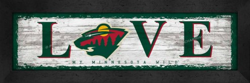 Minnesota Wild Love My Team Wall Decor