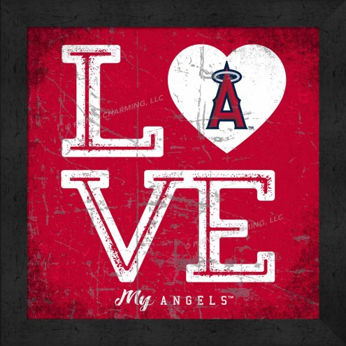 Los Angeles Angels Love My Team Color Wall Decor