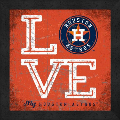 Houston Astros Love My Team Color Wall Decor