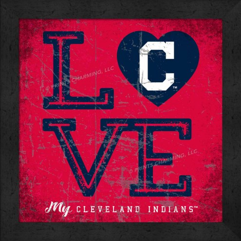 Cleveland Indians Love My Team Color Wall Decor
