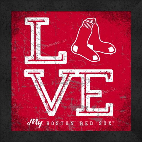 Boston Red Sox Love My Team Color Wall Decor