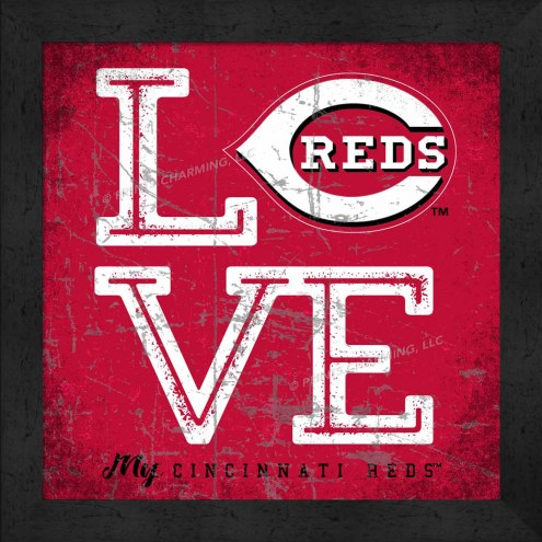 Cincinnati Reds Love My Team Color Wall Decor