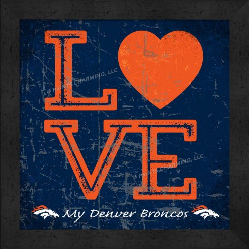 Denver Broncos Love My Team Color Wall Decor