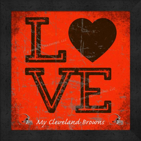 Cleveland Browns Love My Team Color Wall Decor