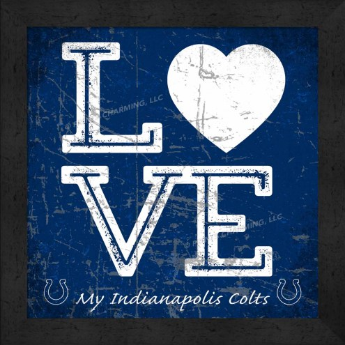 Indianapolis Colts Love My Team Color Wall Decor