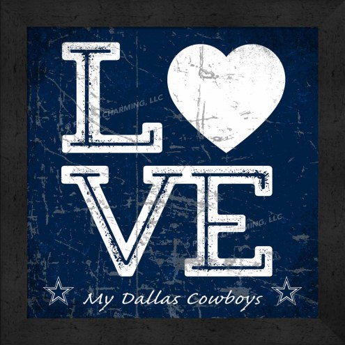 Dallas Cowboys Love My Team Color Wall Decor