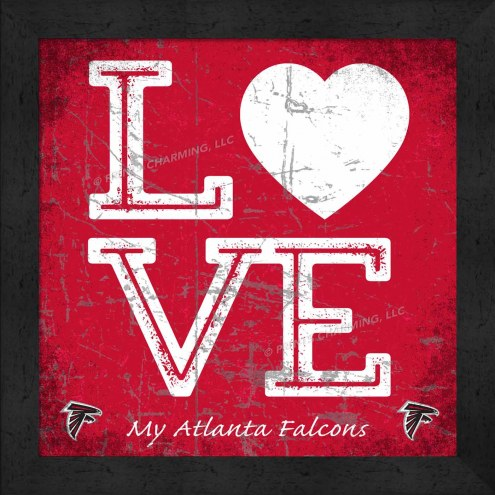 Atlanta Falcons Love My Team Color Wall Decor