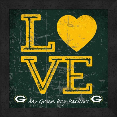 Green Bay Packers Love My Team Color Wall Decor