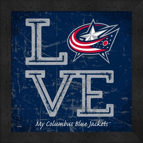 Columbus Blue Jackets Love My Team Color Wall Decor