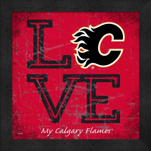 Calgary Flames Love My Team Color Wall Decor