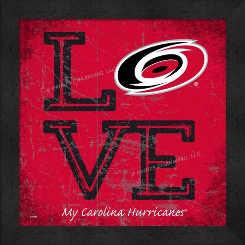 Carolina Hurricanes Love My Team Color Wall Decor