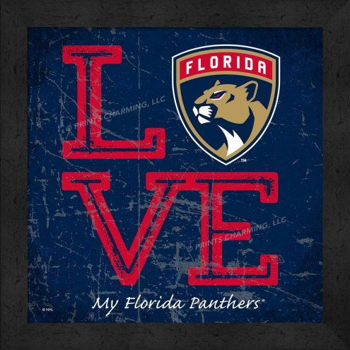 Florida Panthers Love My Team Color Wall Decor