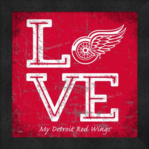 Detroit Red Wings Love My Team Color Wall Decor