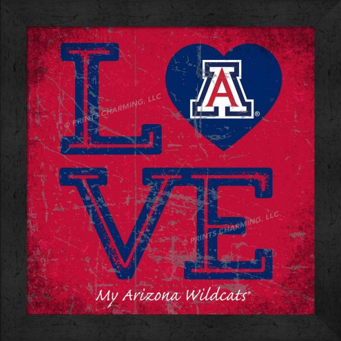 Arizona Wildcats Love My Team Color Wall Decor