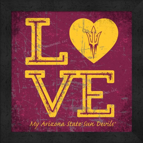 Arizona State Sun Devils Love My Team Color Wall Decor