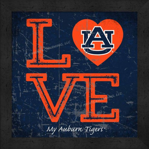 Auburn Tigers Love My Team Color Wall Decor