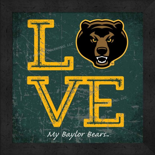 Baylor Bears Love My Team Color Wall Decor