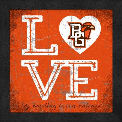 Bowling Green State Falcons Love My Team Color Wall Decor
