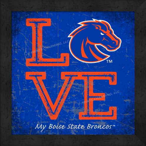 Boise State Broncos Love My Team Color Wall Decor