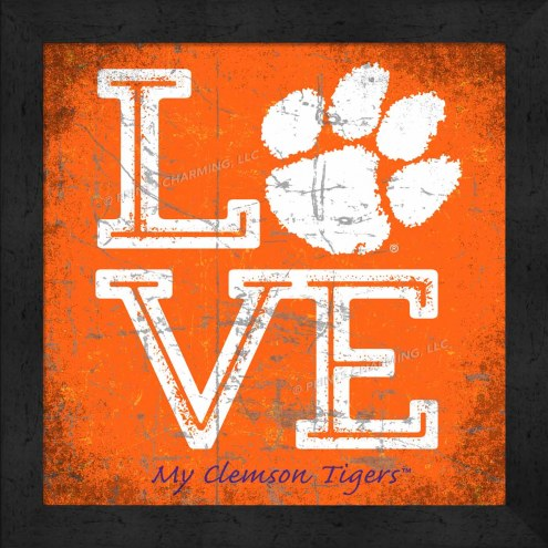 Clemson Tigers Love My Team Color Wall Decor