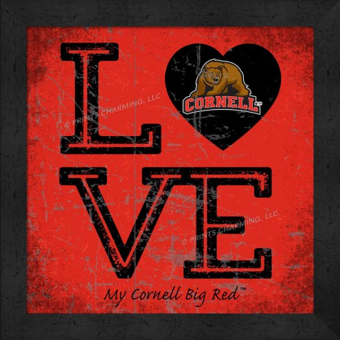 Cornell Big Red Love My Team Color Wall Decor