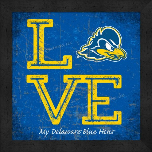 Delaware Blue Hens Love My Team Color Wall Decor