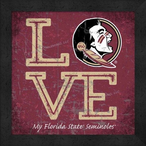 Florida State Seminoles Love My Team Color Wall Decor