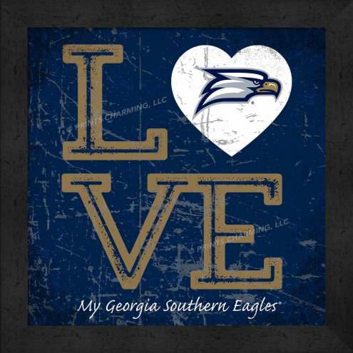 Georgia Southern Eagles Love My Team Color Wall Decor