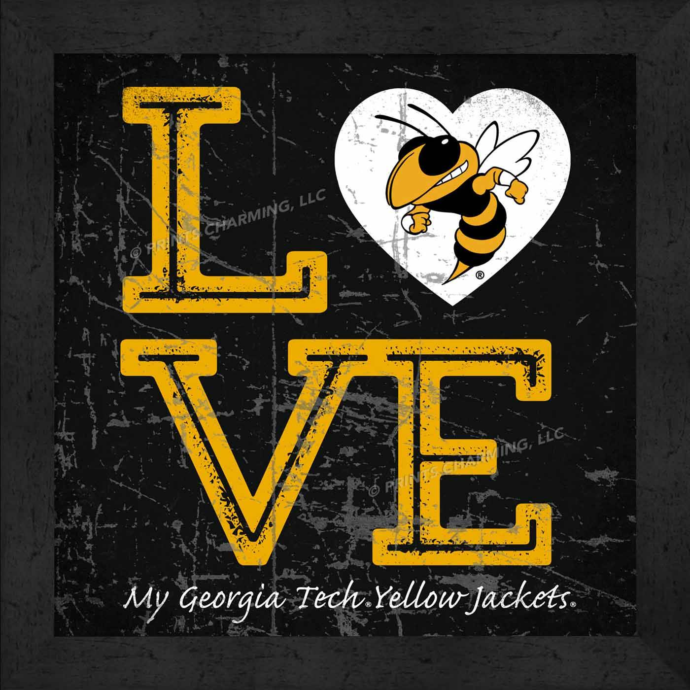Georgia Tech Yellow Jackets Love My Team Color Wall Decor