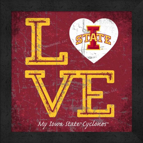 Iowa State Cyclones Love My Team Color Wall Decor