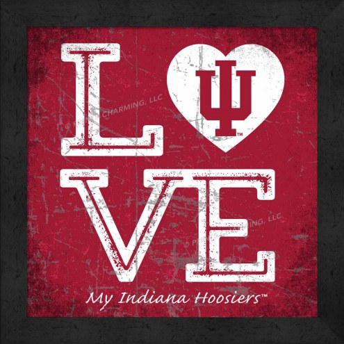 Indiana Hoosiers Love My Team Color Wall Decor