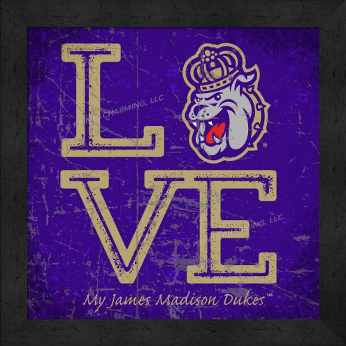 James Madison Dukes Love My Team Color Wall Decor