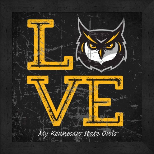 Kennesaw State Owls Love My Team Color Wall Decor