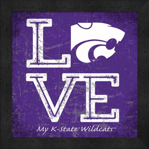Kansas State Wildcats Love My Team Color Wall Decor