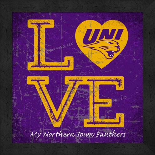 Northern Iowa Panthers Love My Team Color Wall Decor