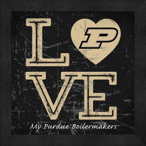 Purdue Boilermakers Love My Team Color Wall Decor