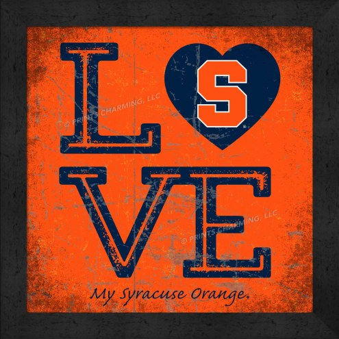 Syracuse Orange Love My Team Color Wall Decor